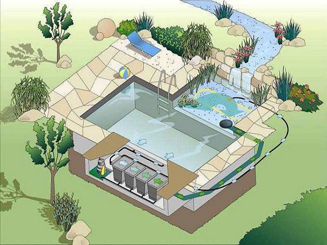 Устройство водоема