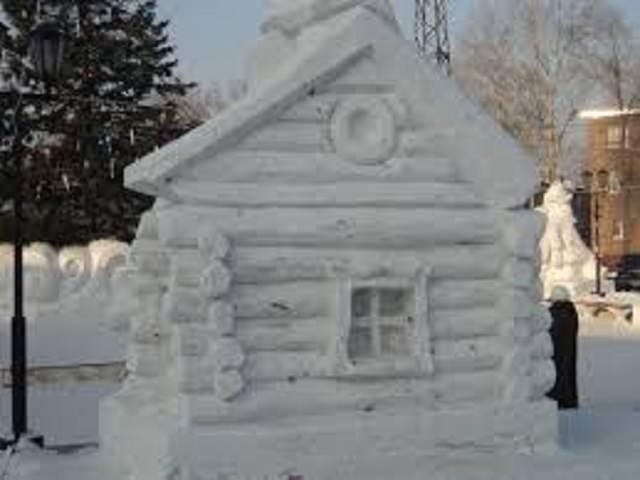 Как сделать дом из снега детям?