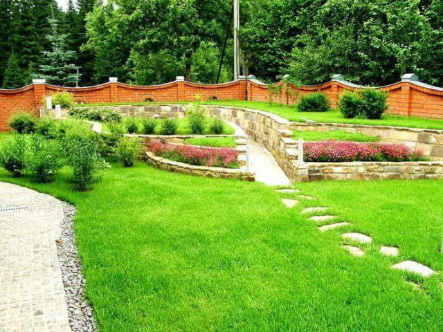 Газон загородного дома