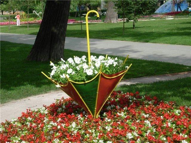 Зонт - клумба