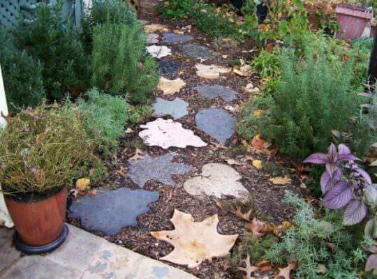 Садовые дорожки из камней фото
