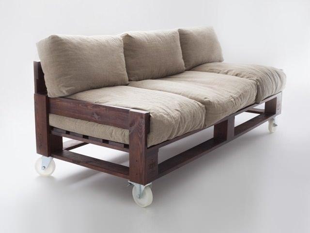 Фото диван из поддонов