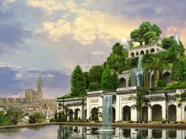 Предполагаемый внешний вид садов Семирамиды
