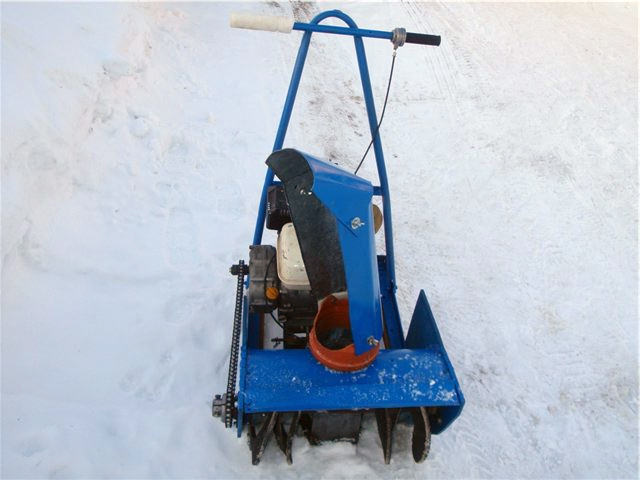 Снеговая лопата со шнеком своими руками