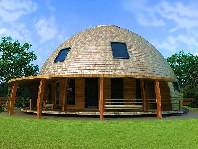 Каркасный круглый дом проект