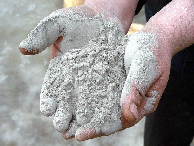 Цемент для производства вазона для цветов