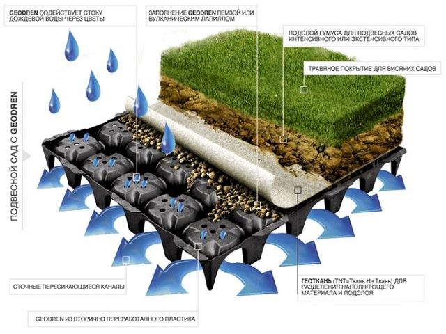 Схема озеленения крыши