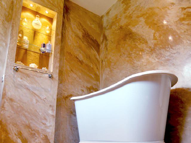 Венецианская декоративная штукатурка в ванной