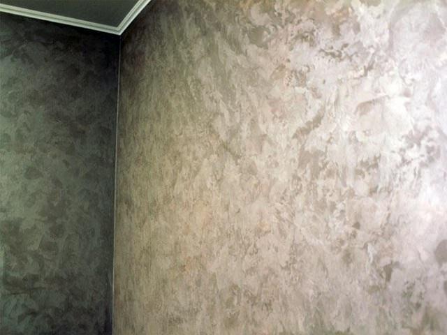 Декоративная краска с эффектом металлического покрытия
