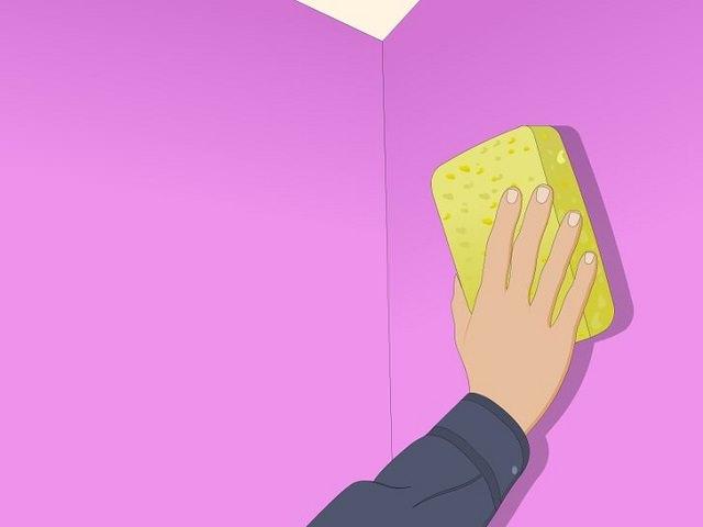 Очищение стены перед нанесением интерьерной водоэмульсионной краски