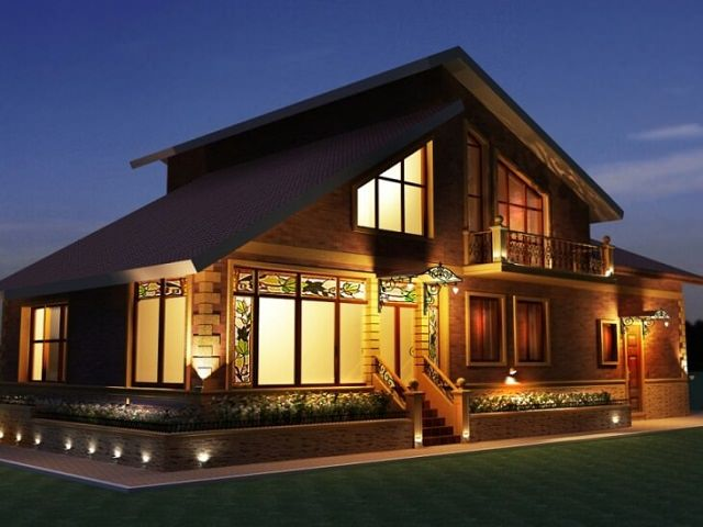 Светильники для освещения фасадов здания