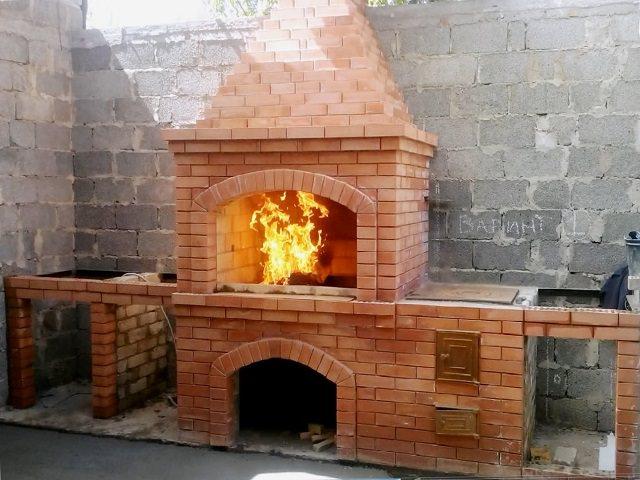 Проекты углового комплекса барбекю с тандыром