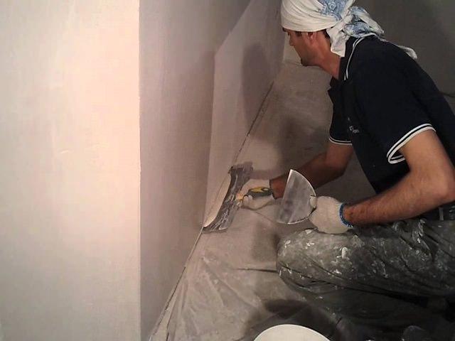 Шпаклевание стен перед нанесением декоративной краски