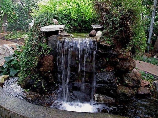 Ландшафтный дизайн фонтаны водопады