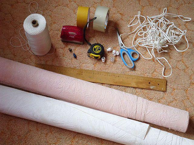 Материалы для изготовления жалюзи из обоев своими руками