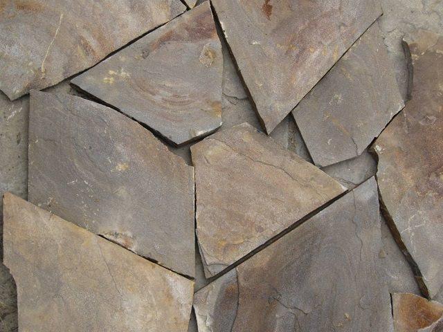 Укладка камня - песчаник