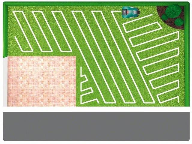 Схема работы робота газонокосилки