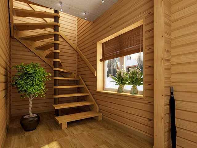 Винтовая лестница деревянная своими руками