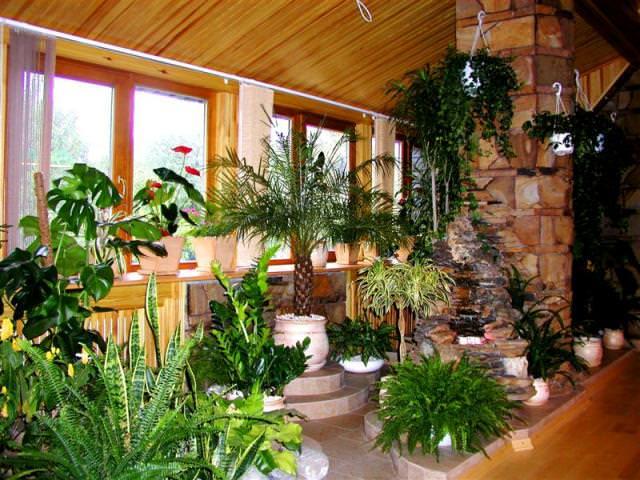 как отапливать зимний сад