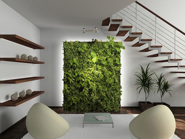 Декоротивный мох с древесной корой коврик