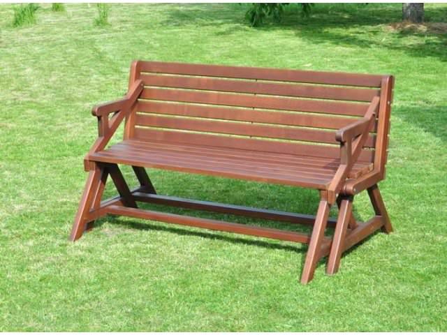 Красивые деревянные скамейки