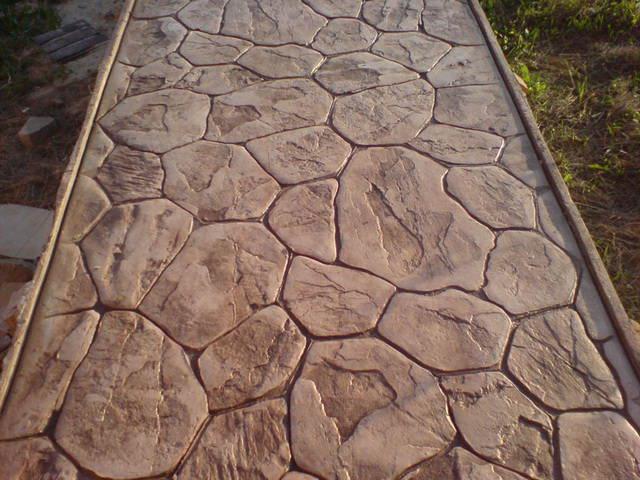 Декорированный бетон прижимной бетон