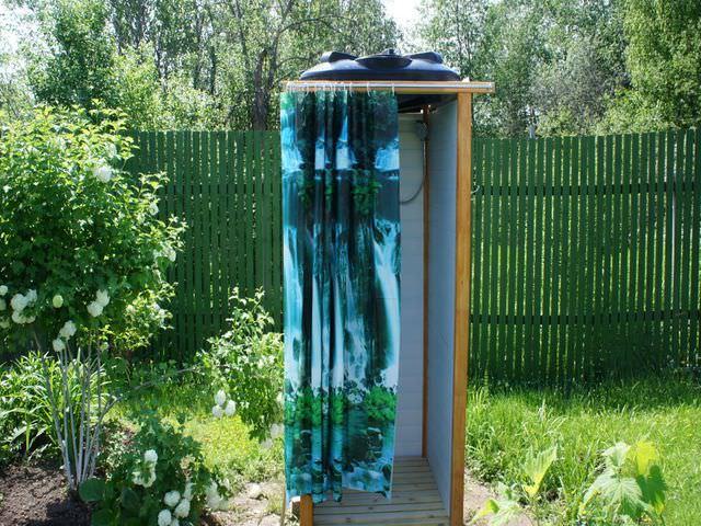 Летний душ с туалетом
