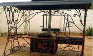 мангал для дачи с крышей