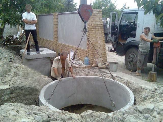 Монтаж канализации на территории