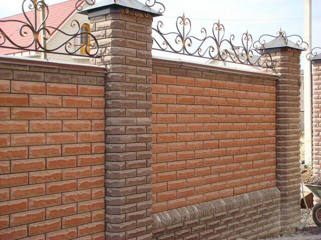 Забор из железа