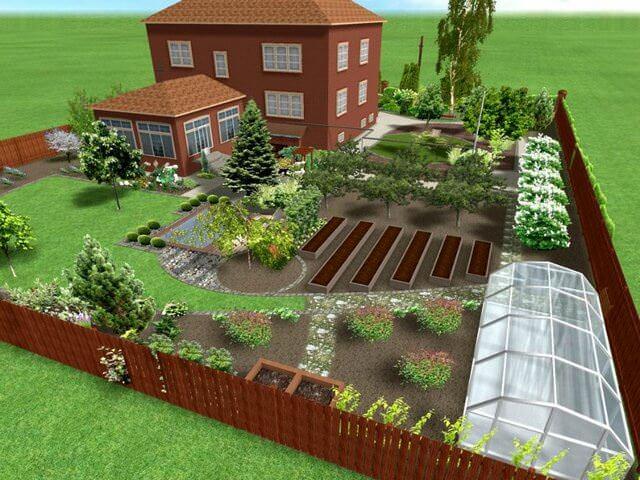 Схема загородной земли