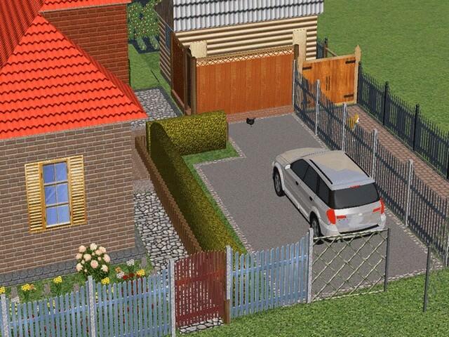 планирование участка 6 соток с домом фото