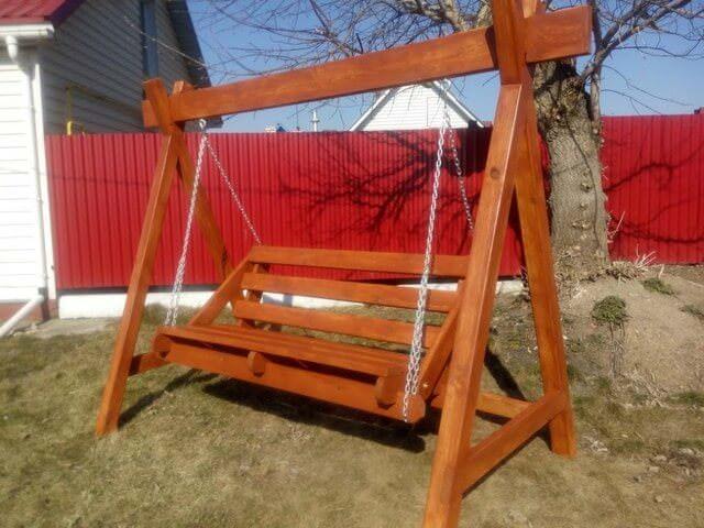 Чертеж и размеры деревянной Игровой площадки
