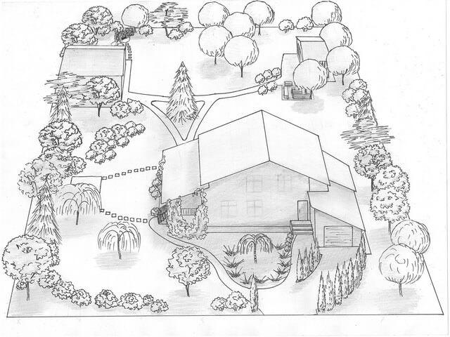 Схема расположения строений