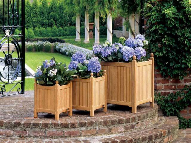 Деревянные ящики для посадки цветов
